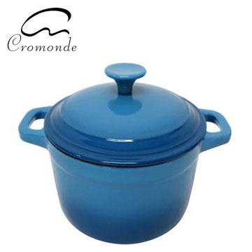克洛蒙琺瑯鑄鐵鍋21CM(藍)(SE-K1609B)