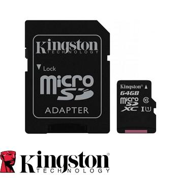 【64G / U1】金士頓 Kingston MicroSD記憶卡(SDC10G2/64GBFR)