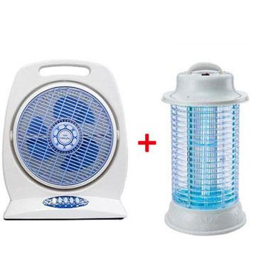 華元10吋箱型扇+上豪10W電子捕蚊燈(HY-106)