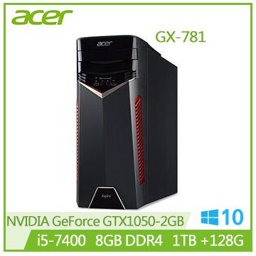 【福利品】Acer GX-781 Ci5-7400 GTX1050 電競主機