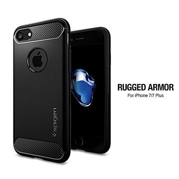 【iPhone 8 / 7】SGP RuggedArmor 防震保護殼-黑
