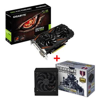 【顯卡+power】技嘉GeForce GTX 1060-3G 顯示卡 + 守護者 500W 電源供應器