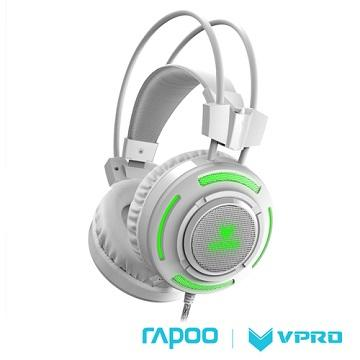 雷柏 VPRO VH200 RGB炫光遊戲耳機-白