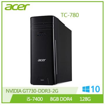 Acer TC-780 i5-7400 GT730 8G RAM 128SSD桌上型主機