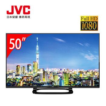 [福利品]JVC 50型FHD顯示器+視訊盒
