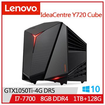 【福利品】LENOVO IdeaCentre Y720 i7-7700 GTX1050 1T桌上型主機(IC Y720 Cube_90H3000CTV)