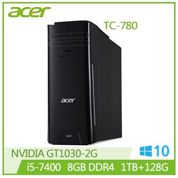 【福利品】ACER TC-780 i5-7400 GT1030 8G DDR4 1T 四核桌上型主機(TC-780 i5-7400)