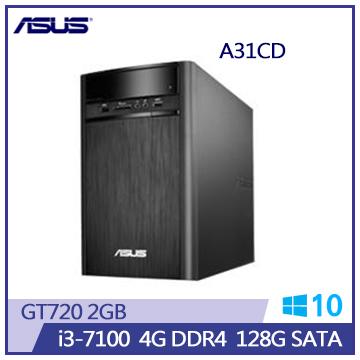 【福利品】ASUS A31CD 7代i3 GT720桌上型主機