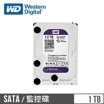 【1TB】WD 3.5吋 SATA監控系統硬碟(紫標)