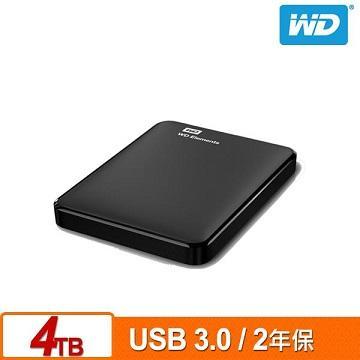 WD 2.5吋 4TB 行動硬碟(Elements WESN)(WDBU6Y0040BBK-WESN)
