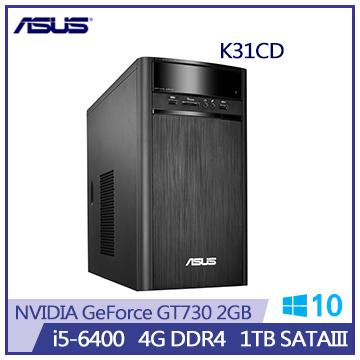 ASUS VivoPC K31CD i5-6400 GT720-2GB 四核桌機(K31CD-0031A640GTT)