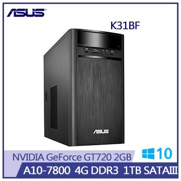 ASUS K31BF A10-7800 GT720-2G 1T桌上型主機(K31BF-0021A780GTT)
