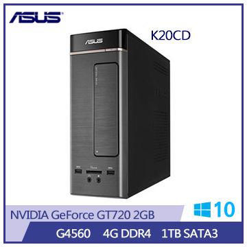 ASUS K20CD G4560 GT720-2G DDR4-4G桌機(K20CD-K-0011A456GTT)