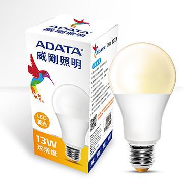 ADATA 威剛13W大角度LED球泡燈-黃光(AL-BUA19C-13W30C)