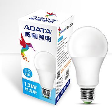 ADATA 威剛13W大角度LED球泡燈-白光(AL-BUA19C-13W65C)