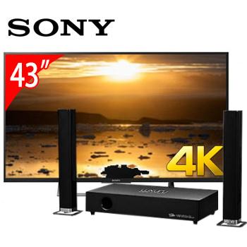 SONY 43型4K智慧連網電視+T.C.STAR藍牙微型劇院