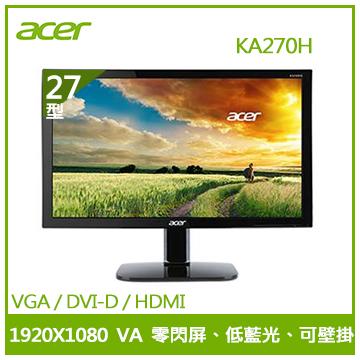 【27型】ACER KA270H 護眼顯示器
