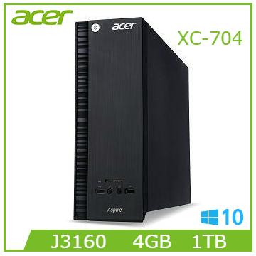 【福利品】Acer Aspire XC-704 J3160 1TB-SATA3 4GB-DDR3桌機(Aspire XC-704 (J3160))