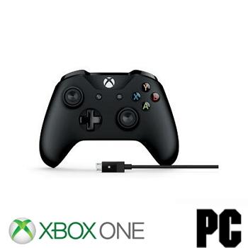 微軟 Microsoft 電競手把含電腦連接線 for PC + XBOX ONE(4N6-00003)