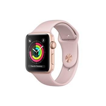【42mm】Apple Watch S3 金色鋁金屬/沙粉色運動錶帶