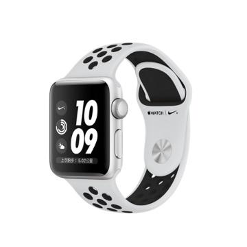 AW S3 Nike+ 38mm/銀色鋁金屬/白黑運動