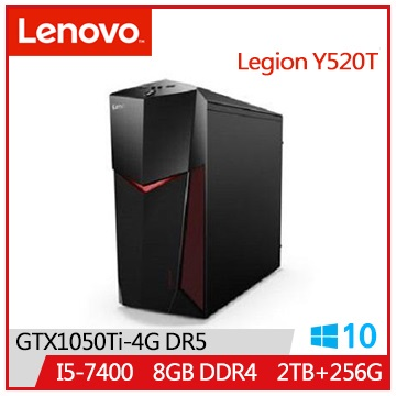LENOVO IdeaCentre Y520 I5-7400 GTX1050 256SSD-M.2桌機(IC Y520T_90H7005WTV)
