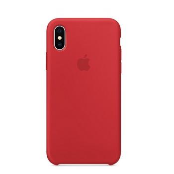 iPhone X 矽膠保護殼-紅色