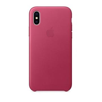 iPhone X 皮革保護殼-吊鐘花緋色