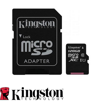 【128G / U1】金士頓 Kingston MicroSD記憶卡(SDC10G2/128GBFR)