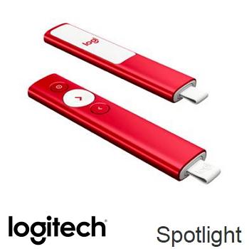 羅技 Logitech SPOTLIGHT簡報遙控器 - 聖誕紅(910-005325)