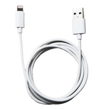 QPNP Apple授權lightning充電傳輸線1M - 白色(QPLX1M)
