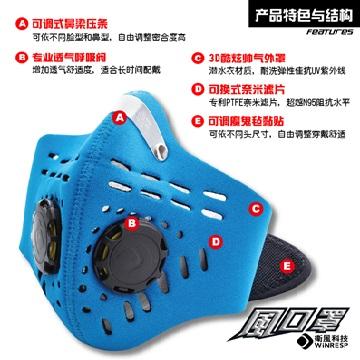 衛風 風系列口罩(1063BL-M(藍))