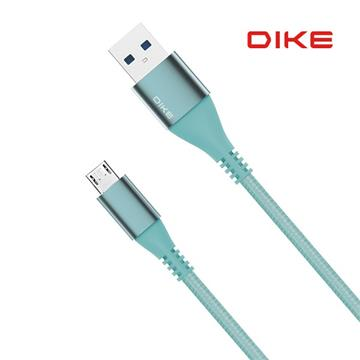 DIKE強化SR快充MicroUSB編織線2.2M-蒂芬妮(DLM122TB)