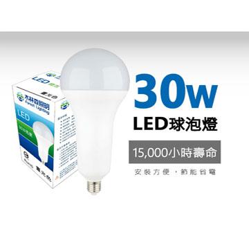 木林森30WLED燈泡-白光