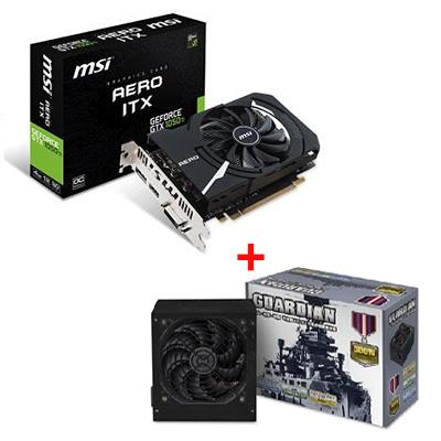 【顯卡+power】微星GTX 1050 Ti AERO 4G OC顯示卡+守護者 500W 電源供應器