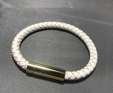 【M】Dococo 數位手環7mm單圈 - 白色