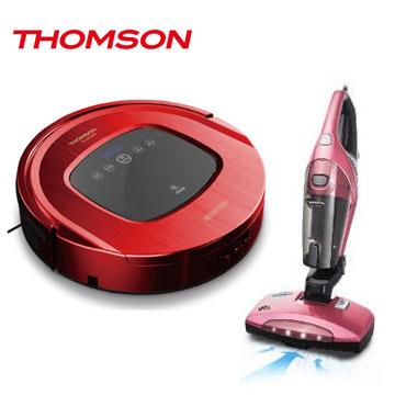 THOMSON智慧型機器人掃地吸塵器+二合一塵蹣吸塵器