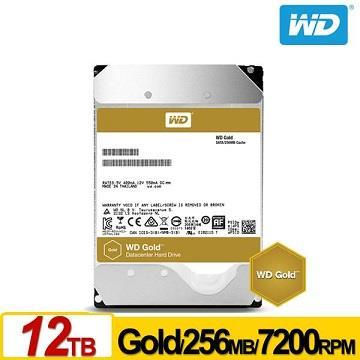 WD 3.5吋 12TB 企業級SATA硬碟(Gold)
