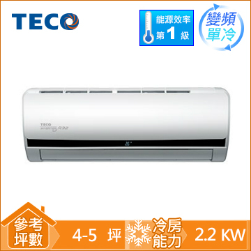 TECO R32頂級一對一變頻單冷空調MS22IE-HS(MA22IC-HS)