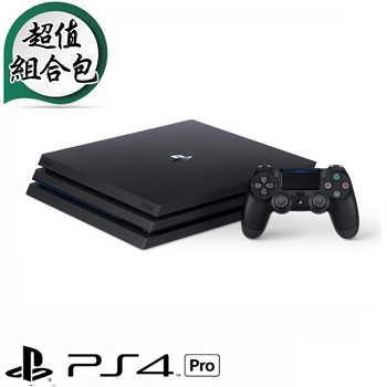 「少量限時包2」【1TB】PS4Pro主機-極致黑