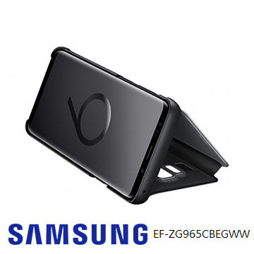SAMSUNG Galaxy S9+ 全透視感應皮套(立架) - 黑色