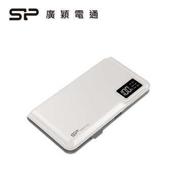 【10000mAh】廣穎 Silicon-Power S103行動電源 - 白色(SP10KMAPBK103P0WTW)