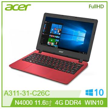 ACER 11.6吋免萬筆電(N4000/4G/WIN10)(A311-31-C26C)