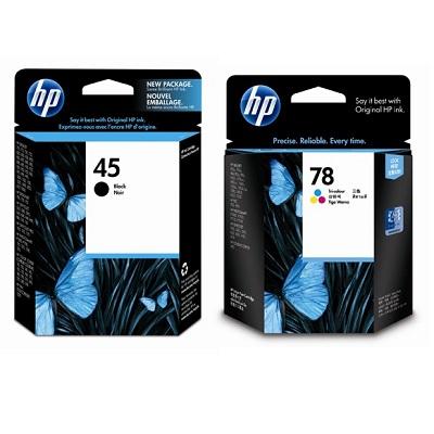 【同捆組】HP45號黑色原廠墨水匣+78號三色原廠墨水匣