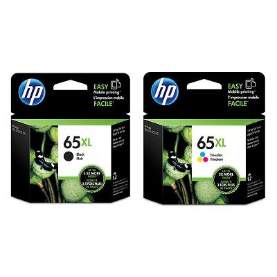 HP65號XL黑色+三色原廠墨水匣