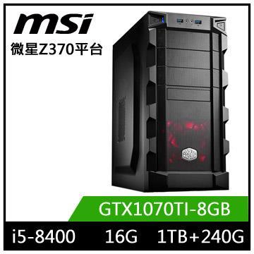 微星平台[龍象帝王]i5六核獨顯SSD電玩機