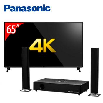 Panasonic 65型六原色4K智慧聯網顯示器+T.C.STAR藍牙微型劇院