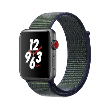 【LTE版 42mm】Apple Watch S3 Nike+/太空灰鋁/薄霧灰錶環