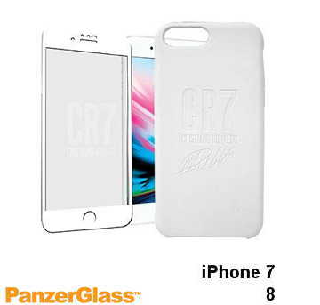 【iPhone 8 / 7】PanzerGlass CR7限量保護組 - 白