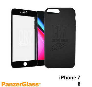 【iPhone 8 / 7】PanzerGlass CR7限量保護組 - 黑